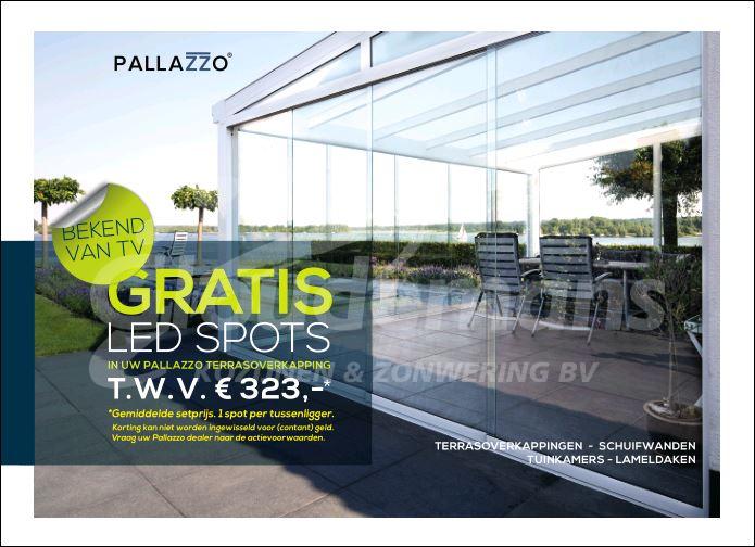 Gloudemans Kozijnen en Zonwering voorjaarsactie Pallazzo terrasoverkapping