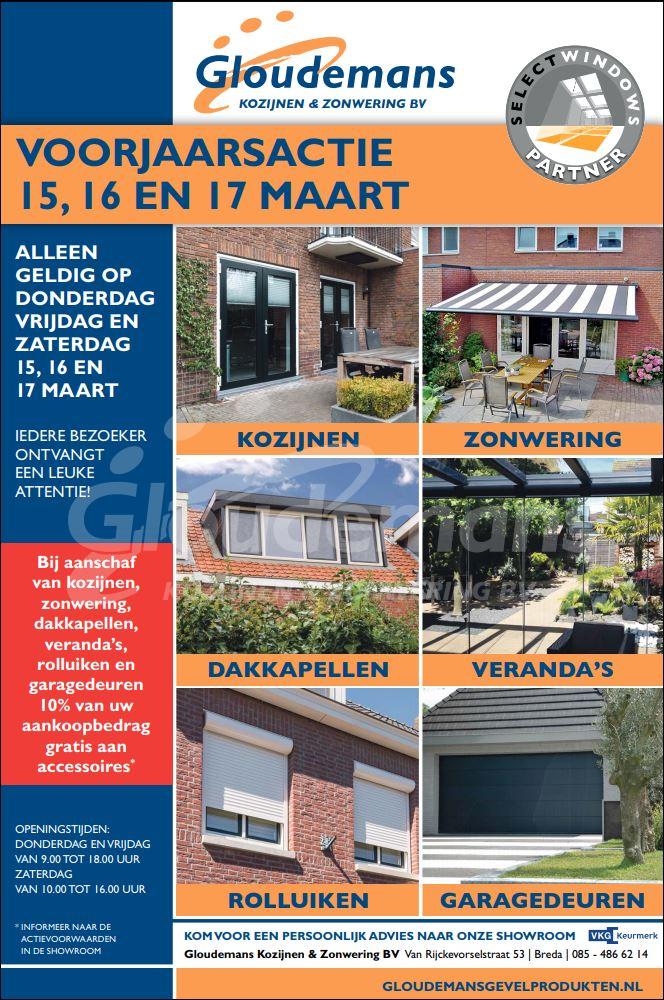 Acties bij Gloudemans Kozijnen & Zonwering